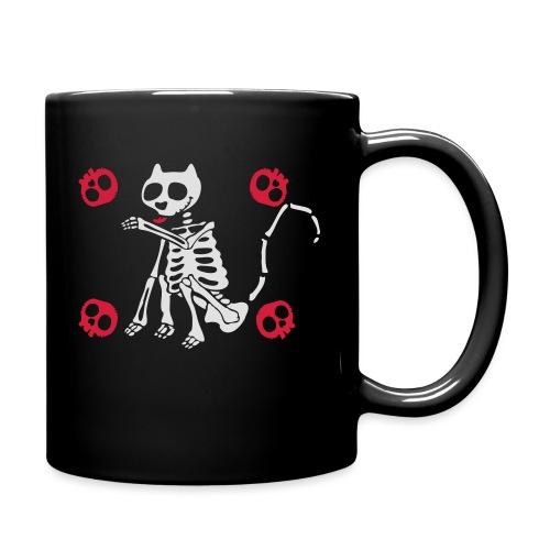 Katzen Skelett - Tasse einfarbig