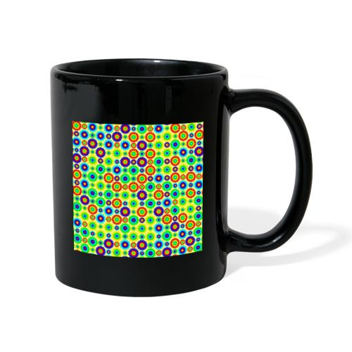 Multi-colored abstract flower pattern - Full Colour Mug