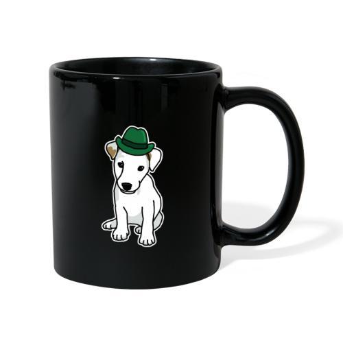 Jack Russell mit Hut, Hund, Comic, lustig, süß - Tasse einfarbig