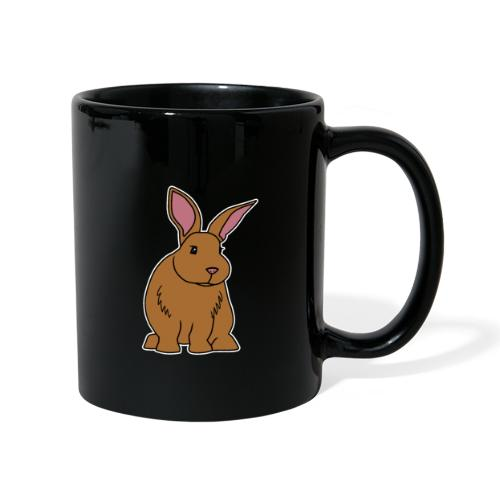 Hase, braun, süß, Comic, Geschenk, Kaninchen - Tasse einfarbig