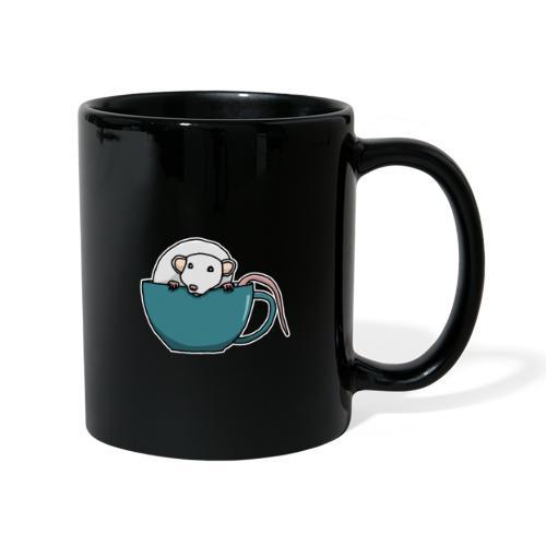 Ratte, Tasse, Tier, süß, Zeichnung, Geschenk - Tasse einfarbig