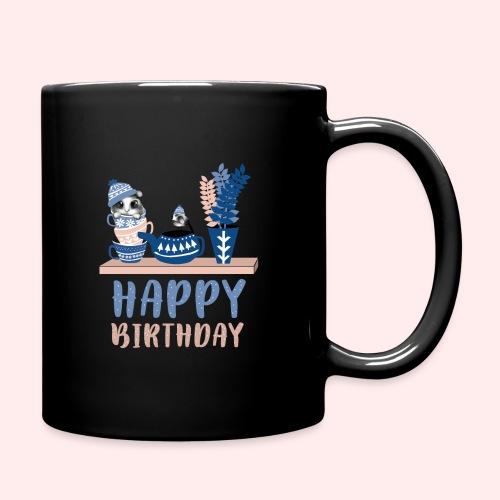 Happy Birthday Geburtstag - Tasse einfarbig