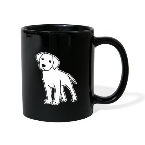 Labrador, Retriever, Hund, Comic, Welpe, süß - Tasse einfarbig