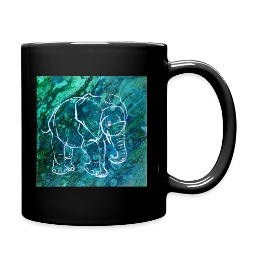 Elefant Pouring LineArt - Tasse einfarbig