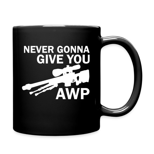 Never gonna give you AWP - Yksivärinen muki