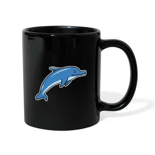 Delfin, Tier, Comic, süß, Kawaii - Tasse einfarbig