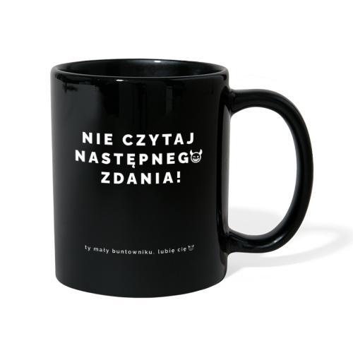 NIE CZYTAJ - Wersja Biała - Kubek jednokolorowy