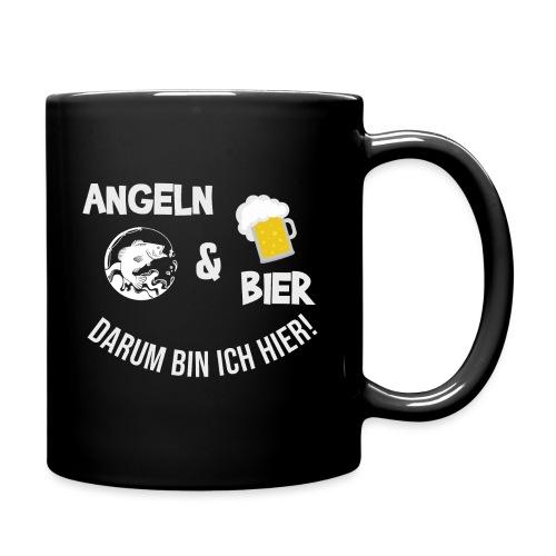 Angeln Bier Fischer Angler Sportfischer Angelfan - Tasse einfarbig