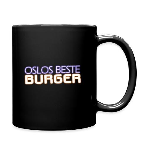Oslos Beste Burger Logo Merch - Ensfarget kopp