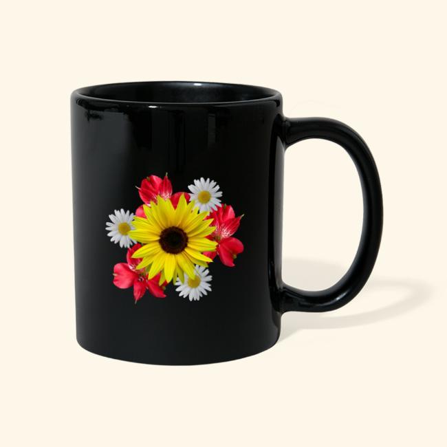 Blumenstrauß, Sonnenblume, Margeriten, rote Blumen