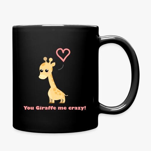 Giraffe Me Crazy - Ensfarvet krus