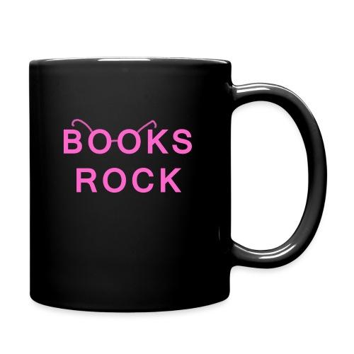 Books Rock Pink - Full Colour Mug