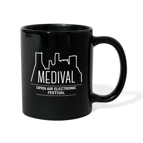 Medival Skyline weiß - Tasse einfarbig