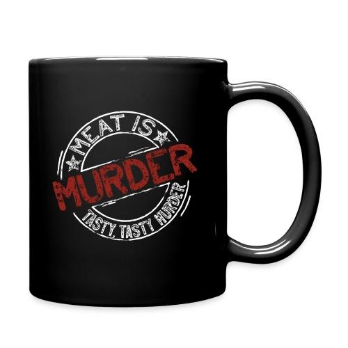 Meat is murder hell - Tasse einfarbig