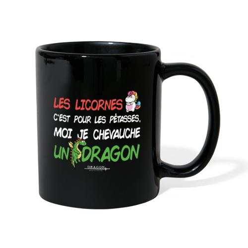 Je chevauche un dragon - Mug uni