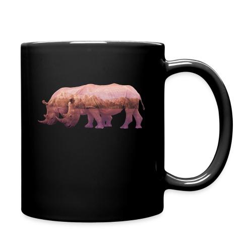 Nashorn Alpen - Tasse einfarbig