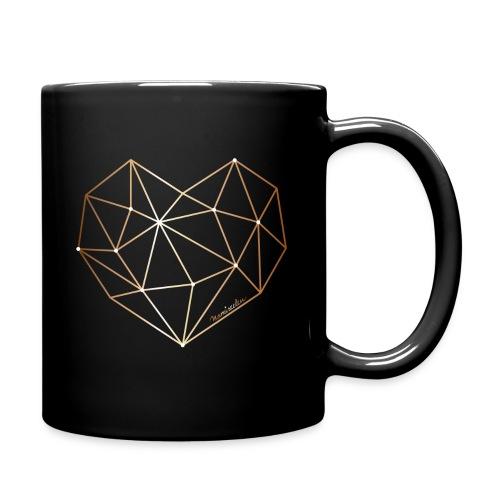 Herz in Diamant, Diamantherz - Tasse einfarbig