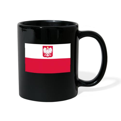 Flag of Poland with coat of arms - Kubek jednokolorowy