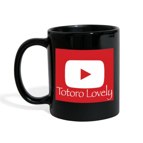 Totoro Lovely + YT logo bak, fram - Enfärgad mugg