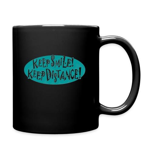 keep smile! - keep distance! - Tasse einfarbig