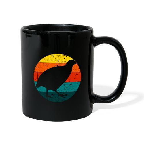 Retro Wachtel Geschenkidee Design Wachteln Logo - Tasse einfarbig