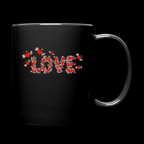 Flying Hearts LOVE - Ensfarvet krus