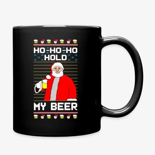 Holdy My Beer Santa Ugly Christmas - Tasse einfarbig