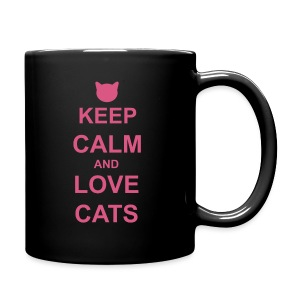 Keep Calm and Love Cats - Pink - Full Colour Mug