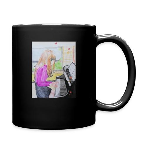 maedchen am klavier - Tasse einfarbig