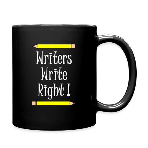 Writers Write Right White Text - Full Colour Mug
