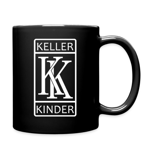 kellerkinder_logo_weiß - Tasse einfarbig