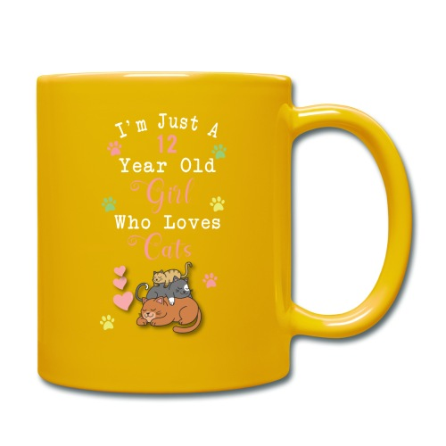 I'm just a 12 year old girl who loves cats - Mug uni