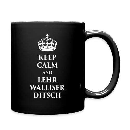 KEEP CALM AND LEHR WALLISERDITSCH - Tasse einfarbig