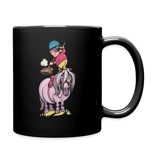 Thelwell Reiter Striegelt Pferd Mit Besen - Tasse einfarbig
