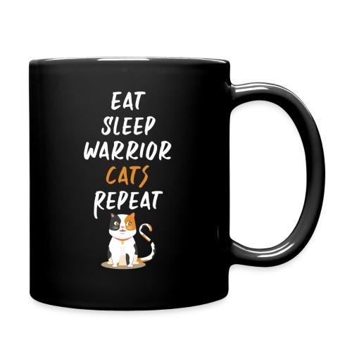 Eat sleep warrior cats repeat - Mug uni