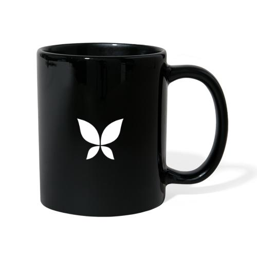 Stahlzart Butterfly White - Tasse einfarbig