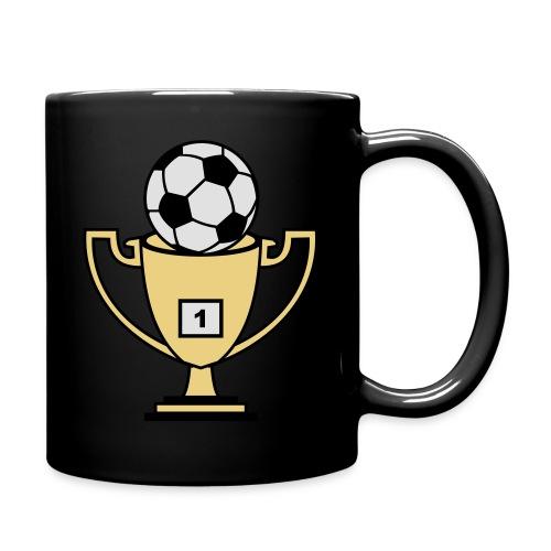 Pokal mit Fussball - Tasse einfarbig
