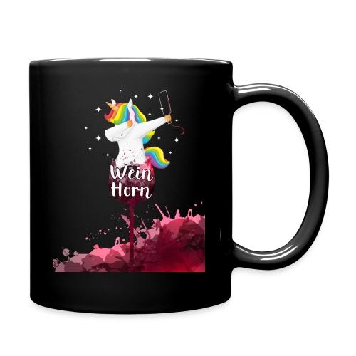 Weinhorn Splash Einhorn Design - Tasse einfarbig