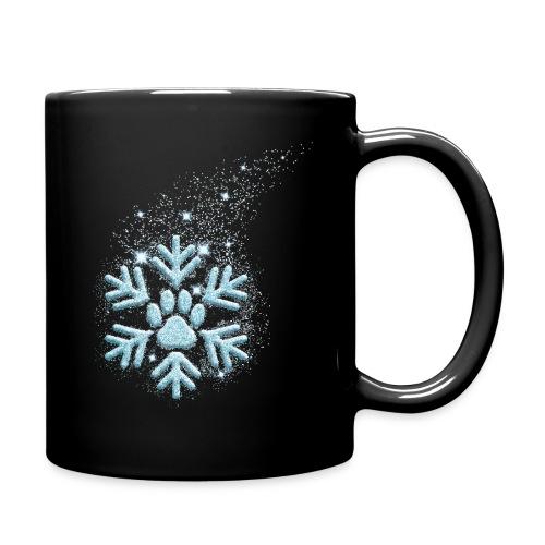 Vorschau: dog paw snowflake - Tasse einfarbig
