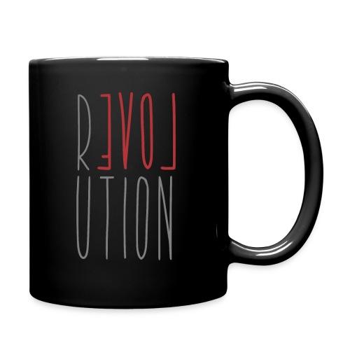 Love Peace Revolution - Liebe Frieden Statement - Tasse einfarbig