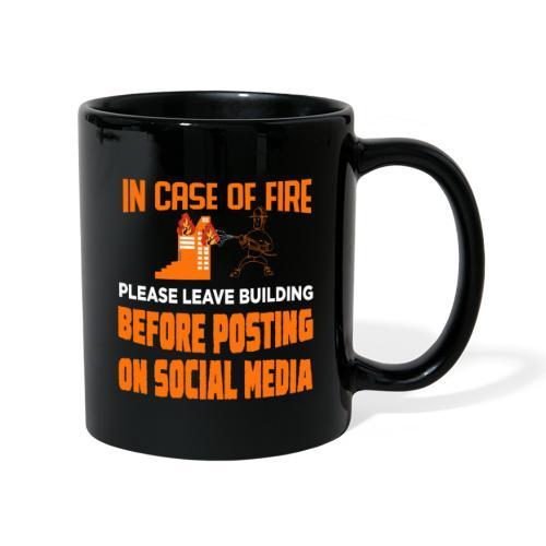 Wenn es brennt das Gebäude verlassen ohne posten - Tasse einfarbig