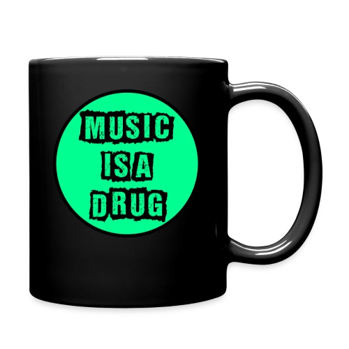 Music is a drug - Tasse einfarbig