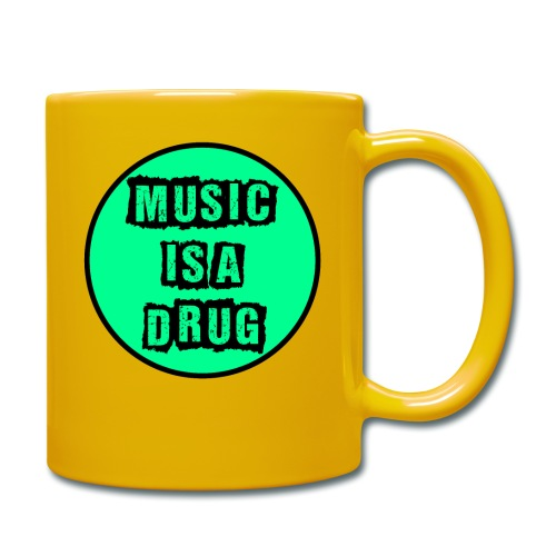 Music is a drug - Tasse einfarbig