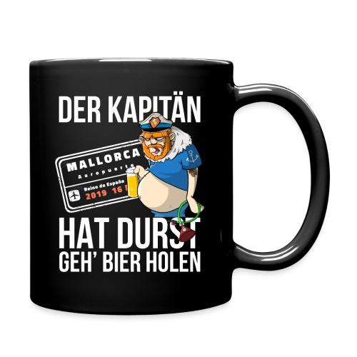 Bier T-shirt Der Kapitän hat Durst - Mallorca 2019 - Tasse einfarbig