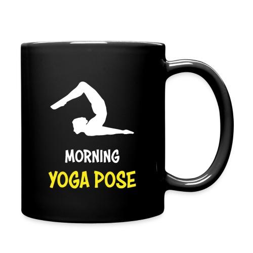 Morgentliche Yoga Pose Hingefallen Yoga Geschenk - Tasse einfarbig
