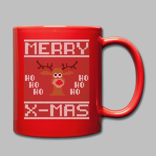 Merry X-Mas Ugly Sweater Design Geschenk - Tasse einfarbig