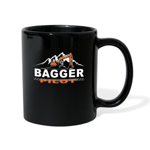 Bagger Pilot Baustelle Baumaschine - Tasse einfarbig