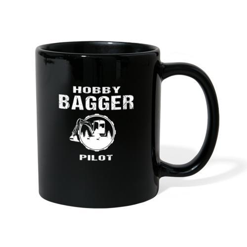 Hobby Bagger Pilot Bagger Baustelle Baumaschine - Tasse einfarbig