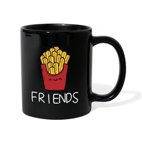 Burger und Pommes Best Friends Partnerlook - Tasse einfarbig