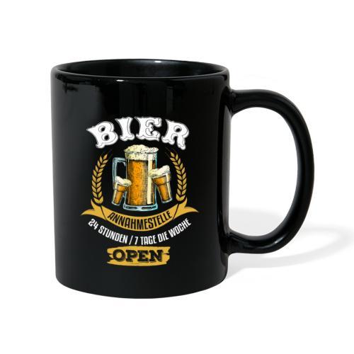 Bier Annahmestelle 24 Stunden 7 Tage Open - Tasse einfarbig